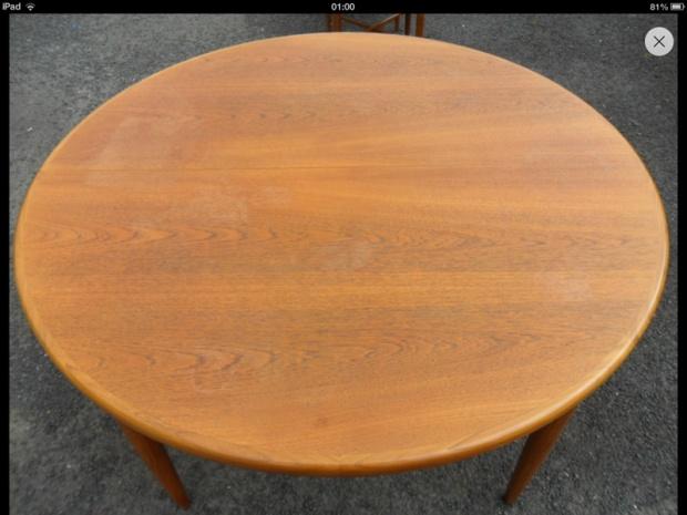 Refinishing A Teak G Plan Dining Table Image 10400977