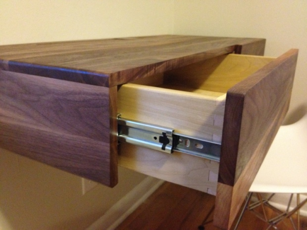 Walnut Floating Desk Woodworking Talk Woodworkers Forum
