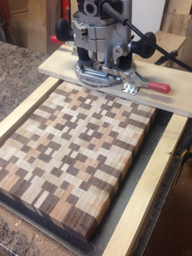 Cool Maple End Grain Cutting Board Plans Wooden Frame