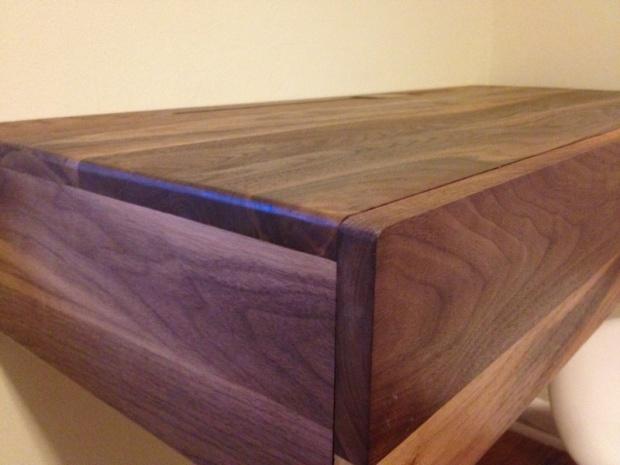 Walnut Floating Desk Woodworking Talk Woodworkers Forum Rh Woodworkingtalk Com Free Small