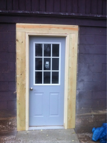 online retailer afc4c 8f323 Adding an exterior door in garage. - Woodworking Talk ...