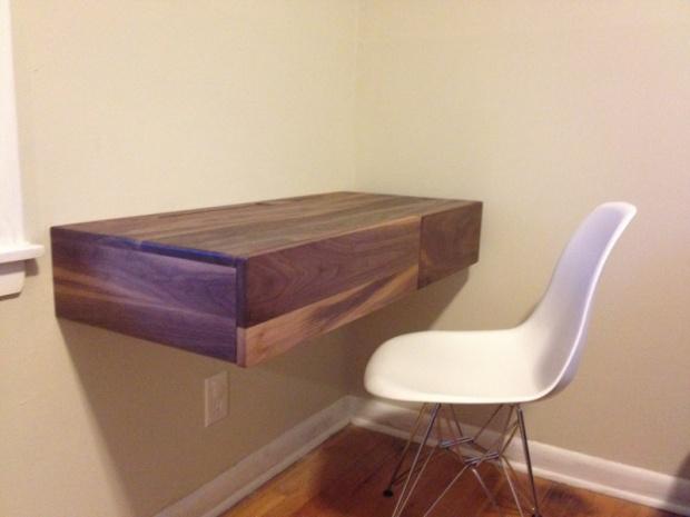 Walnut Floating Desk Woodworking Talk Woodworkers Forum