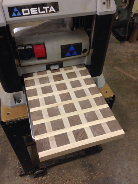 Look what I did! End grain cutting board through planer.-image-3700637547.jpg