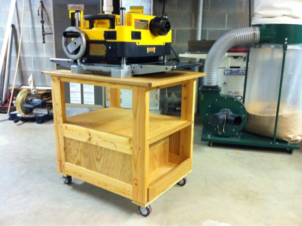 Planer Stand Shop Cart Woodworking Talk Woodworkers