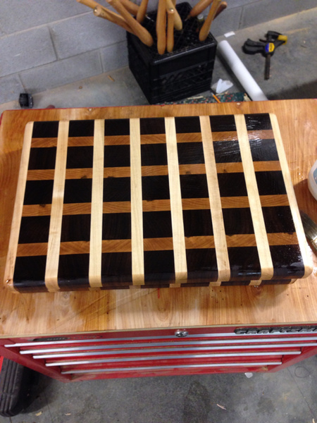 Look what I did! End grain cutting board through planer.-image-4198357273.jpg