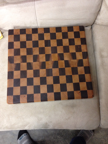 Look what I did! End grain cutting board through planer.-image-696907587.jpg