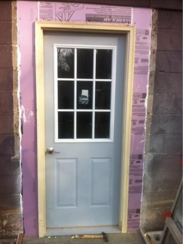 Adding An Exterior Door In Garage Woodworking Talk Woodworkers