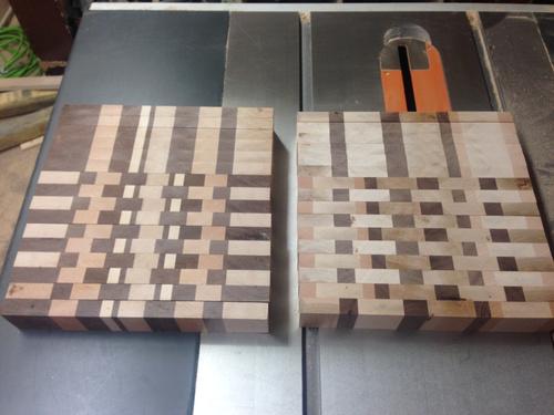 hard maple, birdseye maple, cherry and walnut end grain cutting, Kitchen design