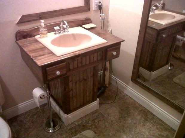 Wooden Pedestal Sink Vanity   Woodworking Talk   Woodworkers Forum