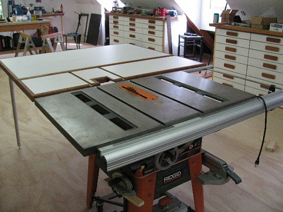 Outfeed Table For Ridgid Ts3650 Or Ts3660 Woodworking
