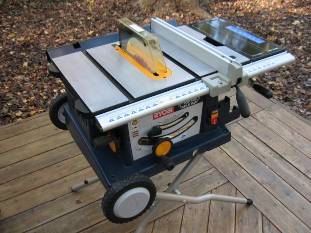 Ryobi Bts20 Folding Base Portable Table Saw Woodworking