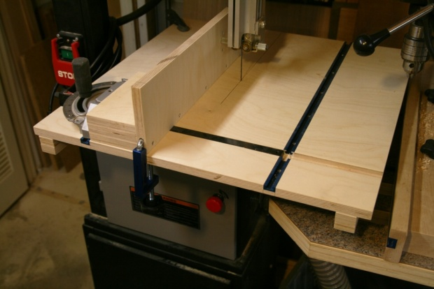 Shop made or bought bandsaw fence. Lets
