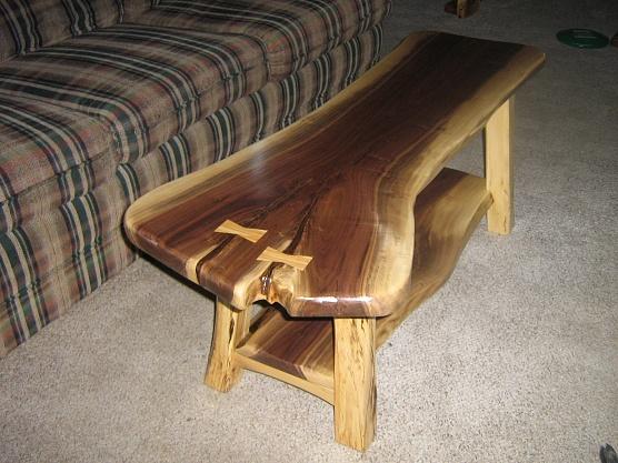 Rustic Walnut Sofa Coffee Table Woodworking Talk