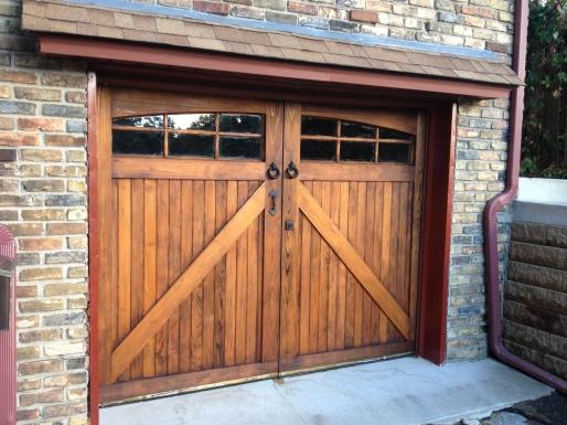 Custom Wood Carriage Garage Door How To Refinish