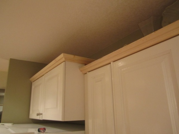 Click Image For Larger Version Name Img1241jpg Views Size 507. How To Add  Height To Kitchen Cabinets. Marvellous Crown Molding ...