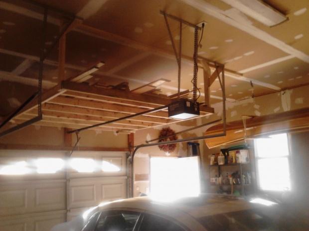 wood garage storage
