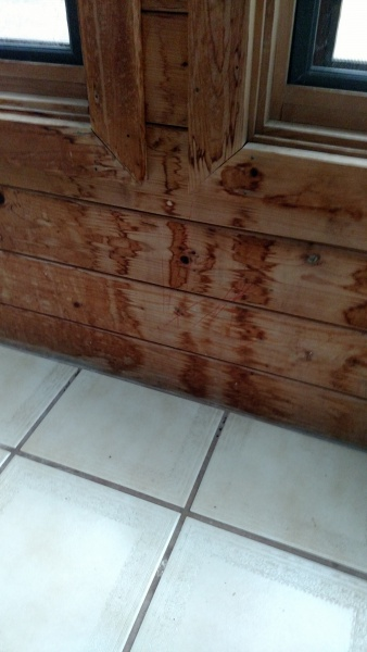 Water Stains On Interior Cedar Siding Woodworking Talk