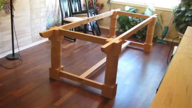 trestle table how to build this one page 2 woodworking talk woodworkers forum. Black Bedroom Furniture Sets. Home Design Ideas