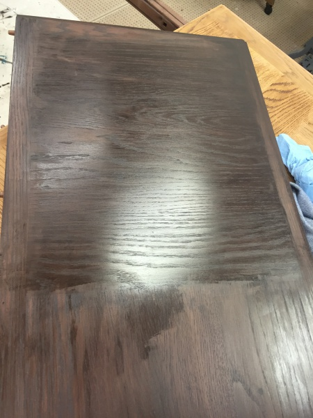 help! 70's dining table refinishing - veneer top - a mess