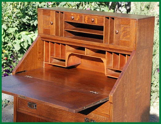 Stickley Drop Front Desk Book Plans Woodworking Talk Woodworkers Forum