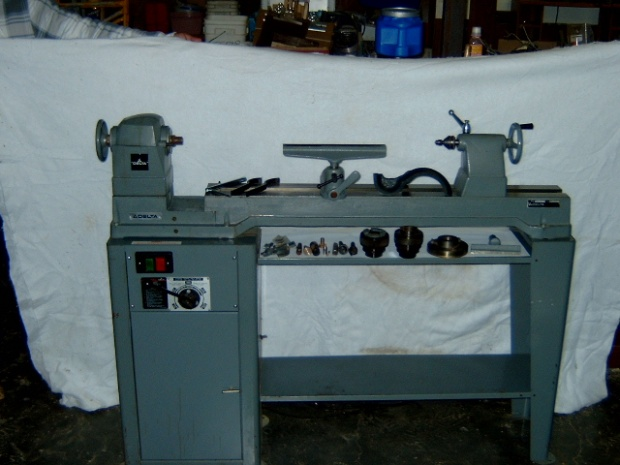 Lathes modified for metal spinning by James P. Riser
