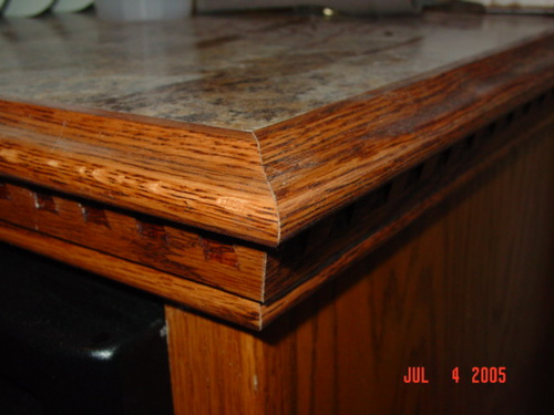 Particle Board Kitchen Countertops : Kitchen laminate counter top wood edge options