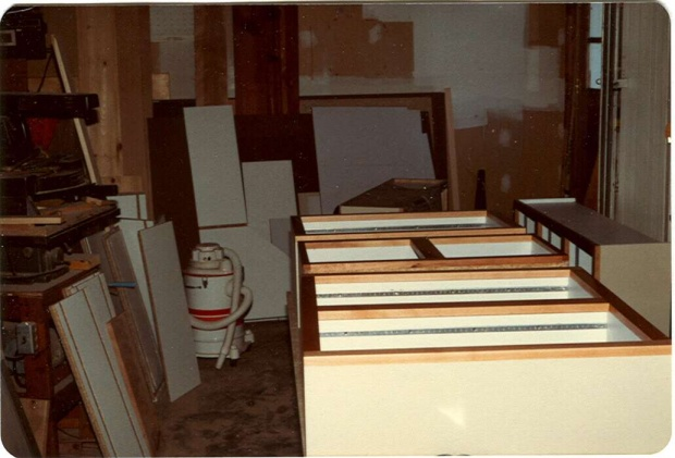 Click image for larger version Name Laminate kitchen1.jpg Views 687 Size & corian doors - Woodworking Talk - Woodworkers Forum