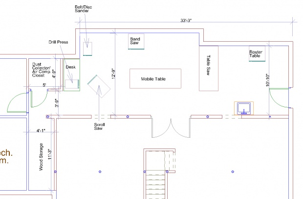 Free Woodworking Shop Layout Plans http://www.woodworkingtalk.com/f9 ...