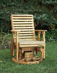 swivel glider adirondack chair plans new creation woodworking