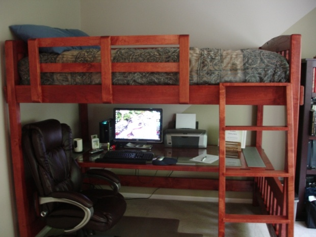 Building Plans For Twin Over Full Bunk Beds With Stairs | www ...