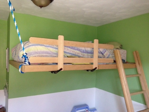 ceiling mounted loft bed 1