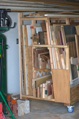 Rolling Lumber Rack Woodworking Talk Woodworkers Forum