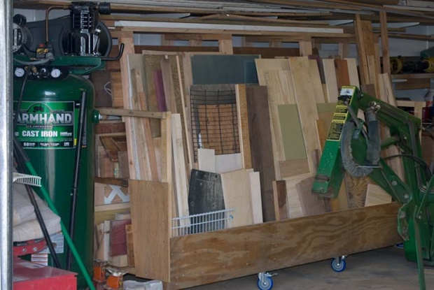 Vertical Lumber Storage Ideas