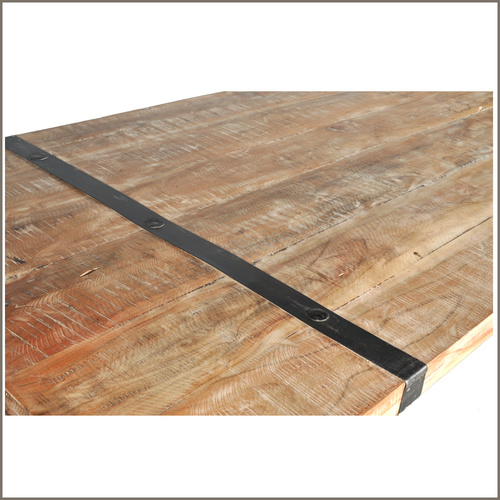 Decorative Metal Straps For Reclaimed Wood Table