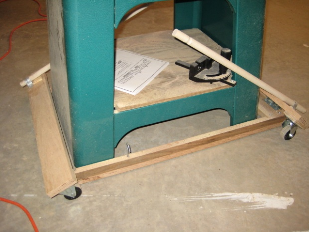 First Diy Mobile Base Band Saw Woodworking Talk