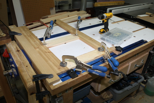 Bench For Multiple Tools Miter Drill Press Router Etc