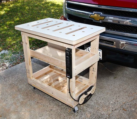 Diy Rolling Workbench Plans, Workbench… | Wood Project and DIY