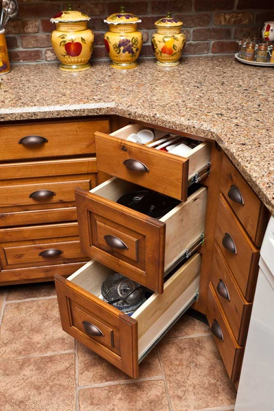 convert base cabinets to drawers 2