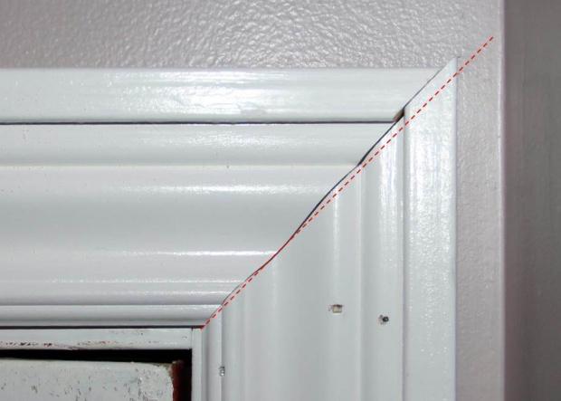 Beveled miter on door casing-new-cut.jpg