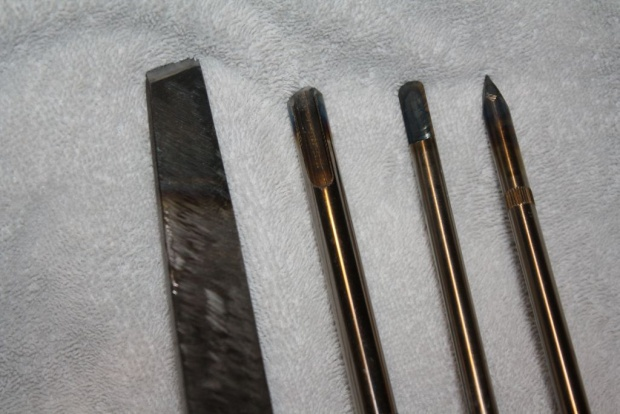 Homemade Wood Mini Scrapers Skew Chisels From Hss Drill