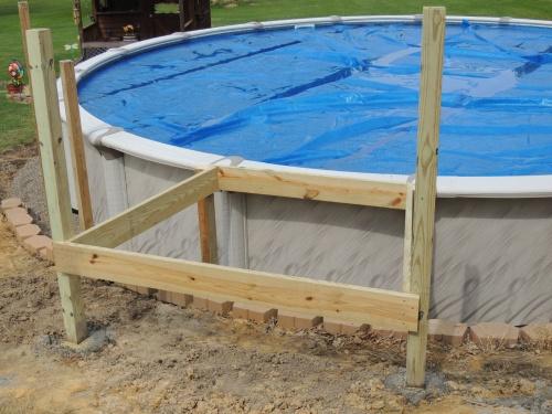 Wraparound Above Ground Pool Deck Woodworking Talk