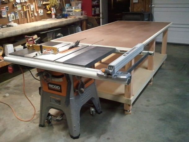 My 4x8 Rolling Work Bench Woodworking Talk Woodworkers