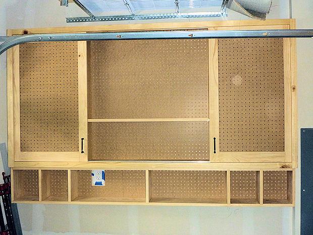 Sliding Door Pegboard Cabinet Woodworking Talk Woodworkers Forum