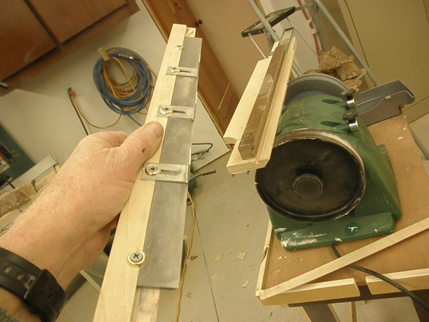 Belt sander thickness jig