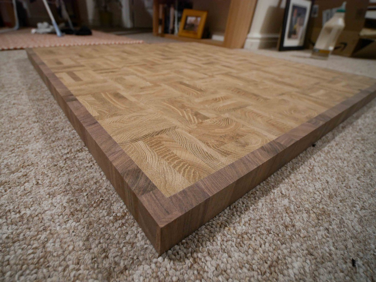 advice for finishing end grain table top woodworking talk