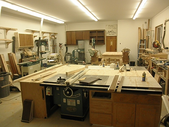 Easy wood working: small woodshop ideas