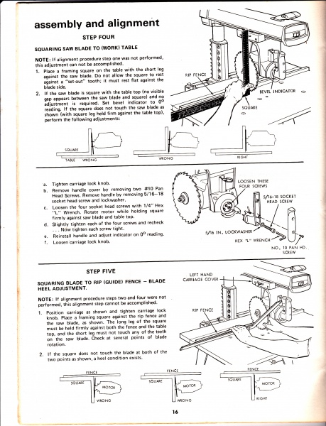 table size for craftsman radial arm saw crafting. Black Bedroom Furniture Sets. Home Design Ideas