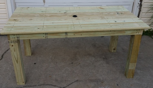 Pressure treated patio table bracing woodworking talk