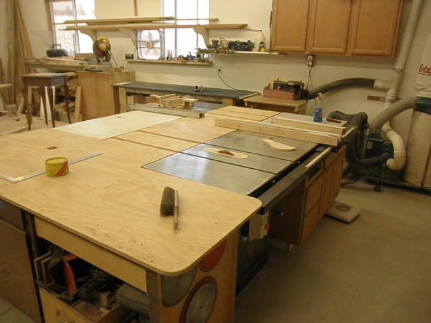 ... shop space but the out-fed also is used as a work bench and tools