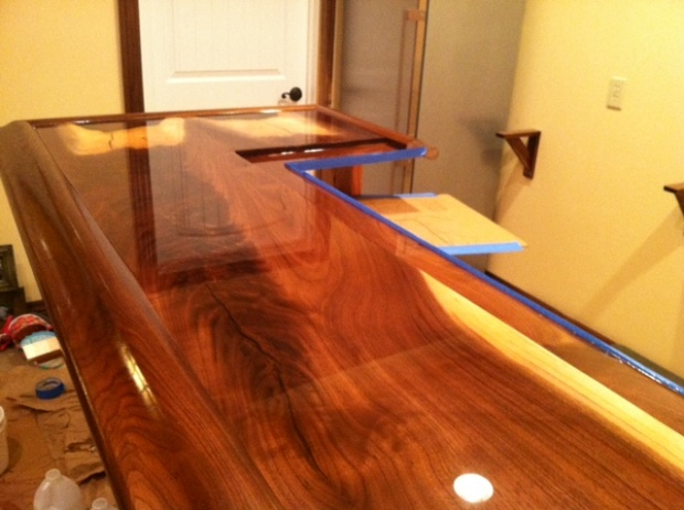 How And When To Sand Epoxy Bartop Coating Woodworking